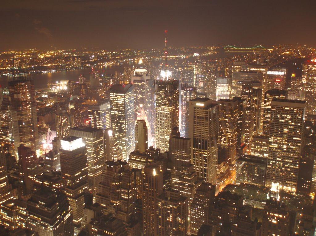New York  Site de lécole -> Amérique Ville Nuit